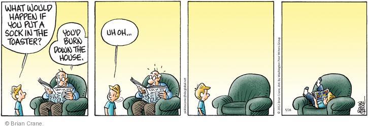 Comic Strip Brian Crane  Pickles 2012-05-28 emergency