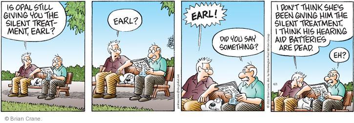 Comic Strip Brian Crane  Pickles 2012-06-01 hear