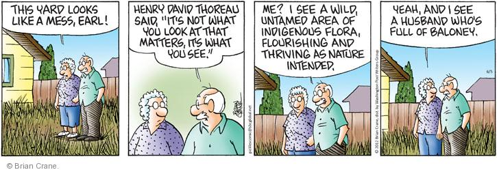 Comic Strip Brian Crane  Pickles 2012-06-05 Henry David Thoreau