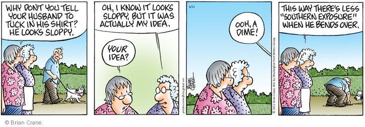 Comic Strip Brian Crane  Pickles 2012-06-11 sloppy
