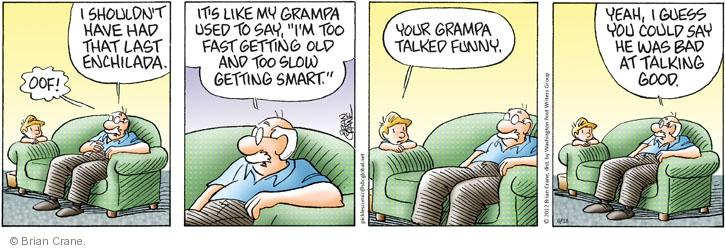Comic Strip Brian Crane  Pickles 2012-06-18 grammatical