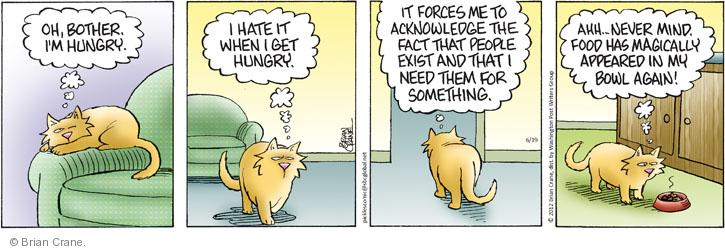 Comic Strip Brian Crane  Pickles 2012-06-19 cat bowl