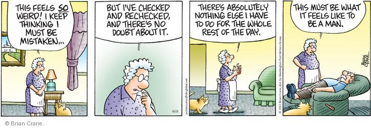 Comic Strip Brian Crane  Pickles 2012-06-21 laziness