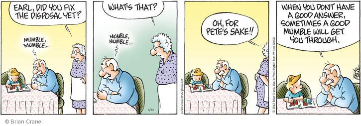 Comic Strip Brian Crane  Pickles 2012-06-23 garbage man