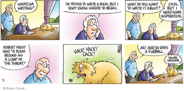 Comic Strip Brian Crane  Pickles 2012-07-01 Robert Frost