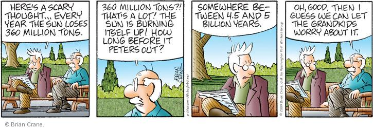 Comic Strip Brian Crane  Pickles 2012-07-02 scary