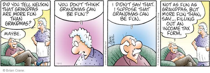 Comic Strip Brian Crane  Pickles 2012-07-05 tax