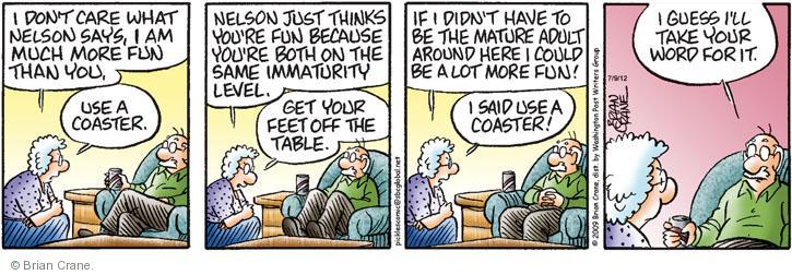 Comic Strip Brian Crane  Pickles 2012-07-09 have fun