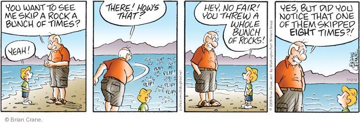 Comic Strip Brian Crane  Pickles 2012-07-12 rock