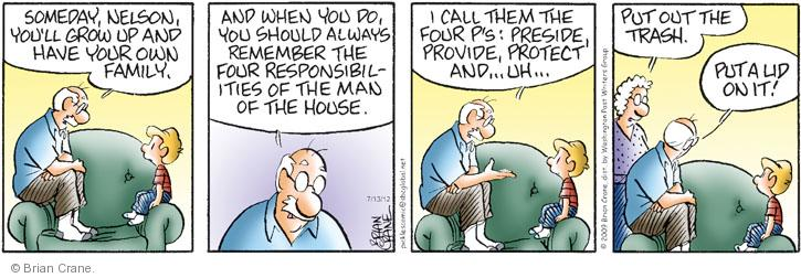 Comic Strip Brian Crane  Pickles 2012-07-13 responsibility