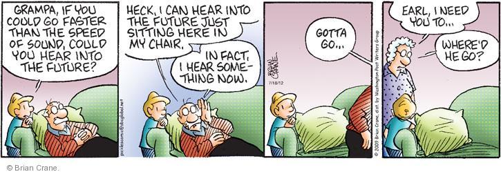Comic Strip Brian Crane  Pickles 2012-07-18 hear