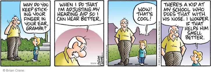 Comic Strip Brian Crane  Pickles 2012-07-23 hear
