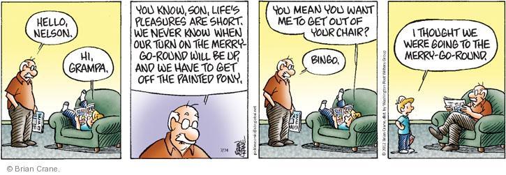 Comic Strip Brian Crane  Pickles 2012-07-24 Merry