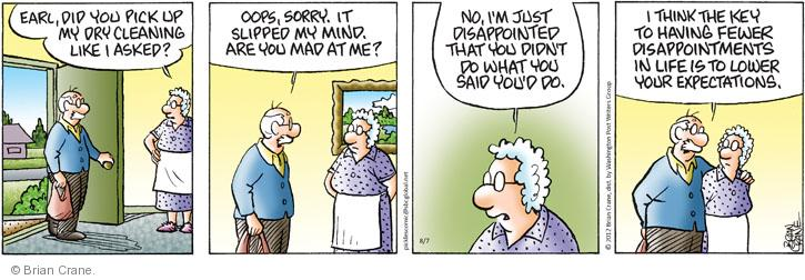 Comic Strip Brian Crane  Pickles 2012-08-07 married couple