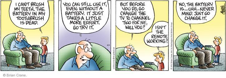 Comic Strip Brian Crane  Pickles 2012-08-08 laziness