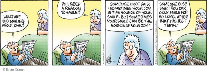 Cartoonist Brian Crane  Pickles 2012-08-09 long