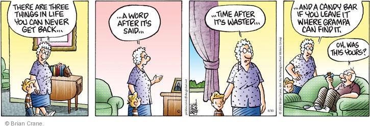 Comic Strip Brian Crane  Pickles 2012-08-10 lose