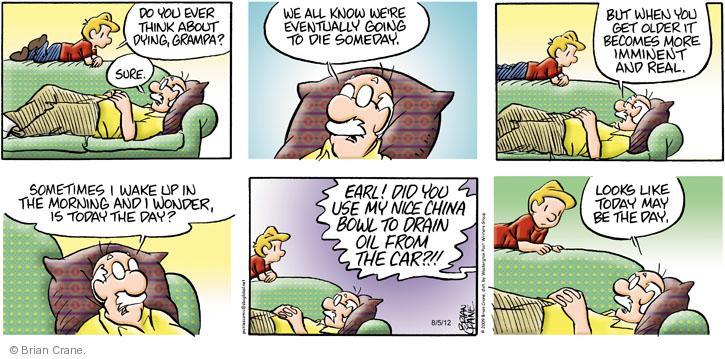 Comic Strip Brian Crane  Pickles 2012-08-05 wake