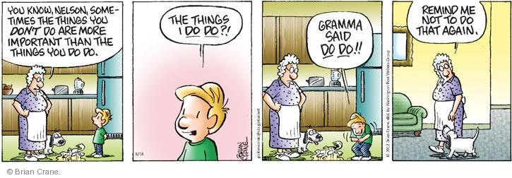 Comic Strip Brian Crane  Pickles 2012-08-18 grandson