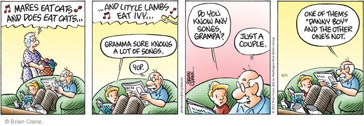 Comic Strip Brian Crane  Pickles 2012-08-25 song