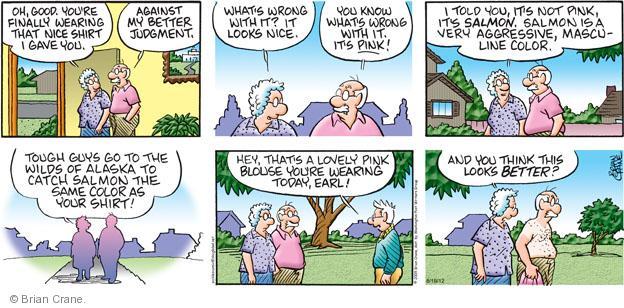 Comic Strip Brian Crane  Pickles 2012-08-19 husband