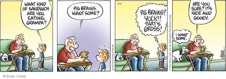 Comic Strip Brian Crane  Pickles 2012-08-31 meat