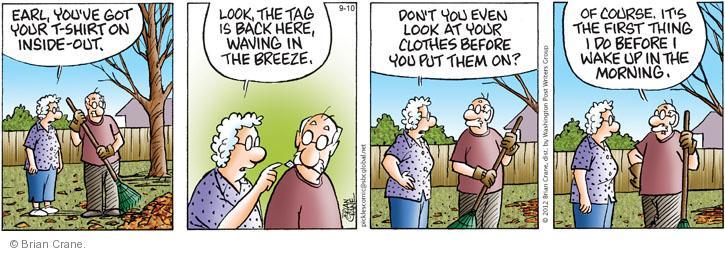 Comic Strip Brian Crane  Pickles 2012-09-10 shirt