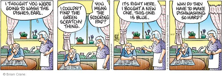 Comic Strip Brian Crane  Pickles 2012-09-17 housekeeping