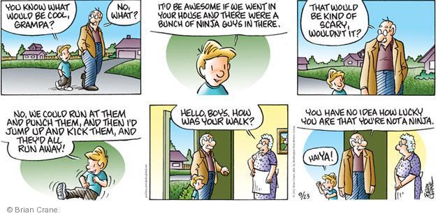 Cartoonist Brian Crane  Pickles 2012-09-23 lucky