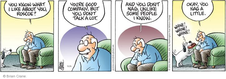 Comic Strip Brian Crane  Pickles 2012-09-26 behavior