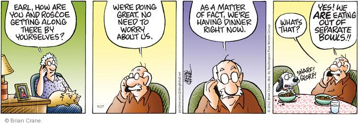 Comic Strip Brian Crane  Pickles 2012-09-27 husband