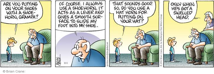 Comic Strip Brian Crane  Pickles 2012-10-01 act