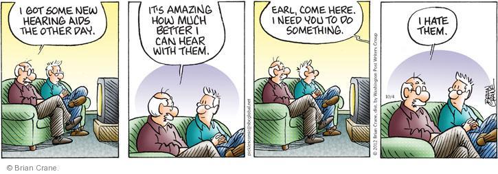 Comic Strip Brian Crane  Pickles 2012-10-04 hear