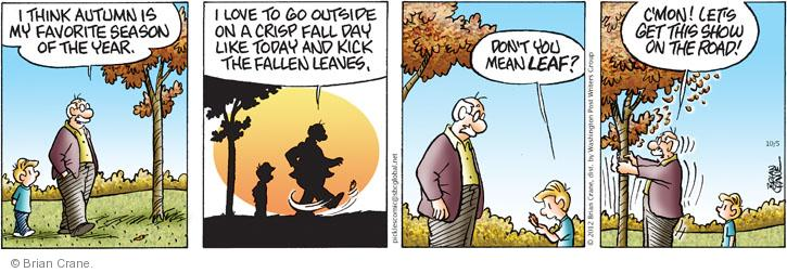 Comic Strip Brian Crane  Pickles 2012-10-05 leaf