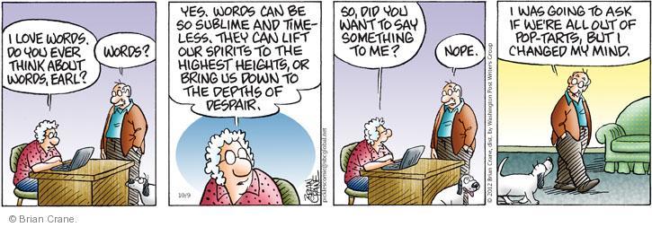 Comic Strip Brian Crane  Pickles 2012-10-09 pop tart