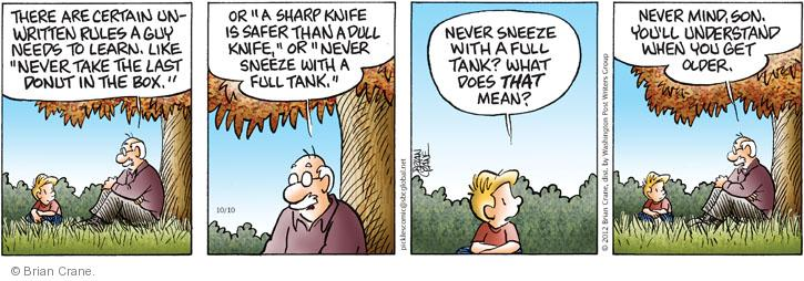 Comic Strip Brian Crane  Pickles 2012-10-10 guy