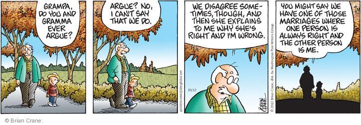Comic Strip Brian Crane  Pickles 2012-10-12 husband