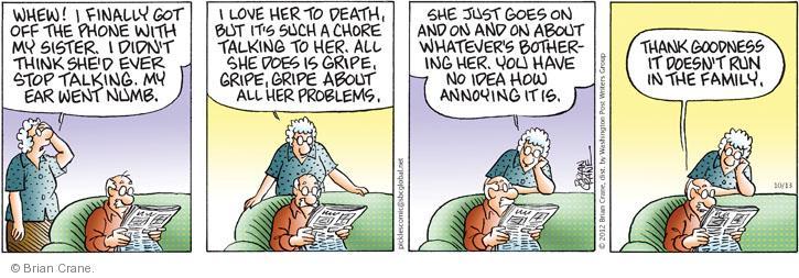 Comic Strip Brian Crane  Pickles 2012-10-13 thank goodness