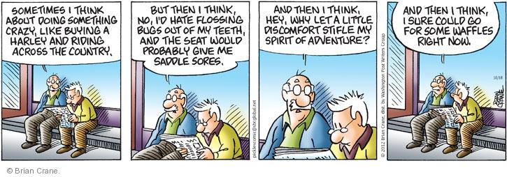 Comic Strip Brian Crane  Pickles 2012-10-18 adventurous