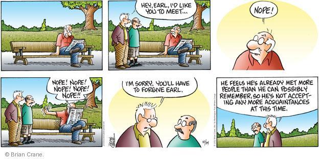 Comic Strip Brian Crane  Pickles 2012-10-14 possibly