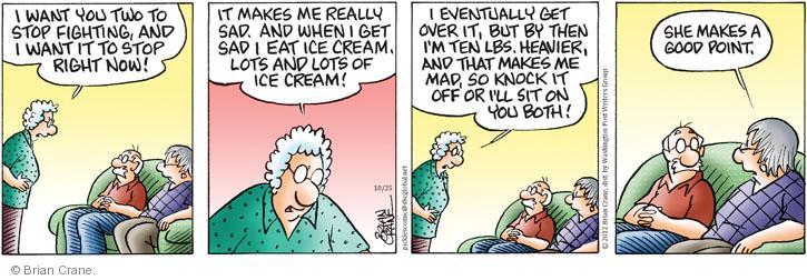 Comic Strip Brian Crane  Pickles 2012-10-25 good point