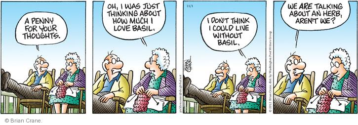 Comic Strip Brian Crane  Pickles 2012-11-01 husband