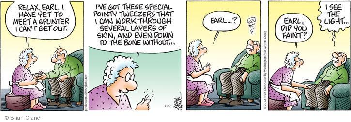 Comic Strip Brian Crane  Pickles 2012-11-07 first aid