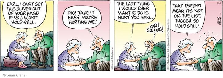 Comic Strip Brian Crane  Pickles 2012-11-08 first aid