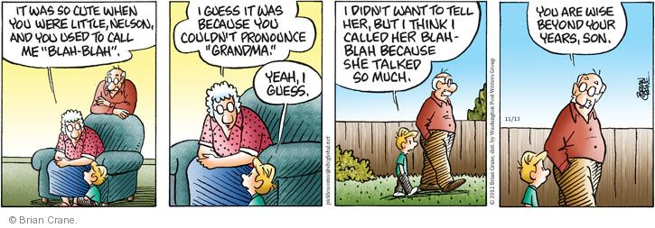Comic Strip Brian Crane  Pickles 2012-11-13 wise