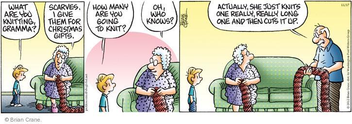 Comic Strip Brian Crane  Pickles 2012-11-17 Christmas gift