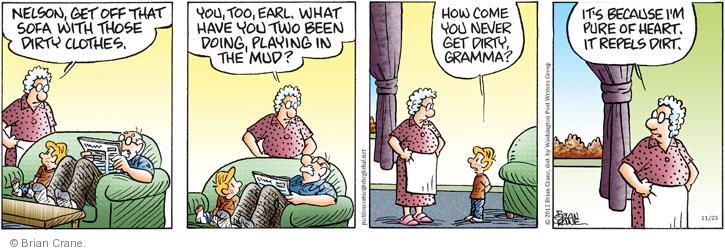 Comic Strip Brian Crane  Pickles 2012-11-23 clean clothes