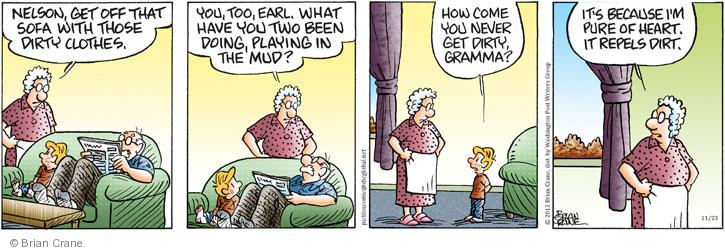 Comic Strip Brian Crane  Pickles 2012-11-23 dirt
