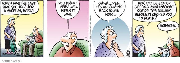 Comic Strip Brian Crane  Pickles 2012-12-11 scissors