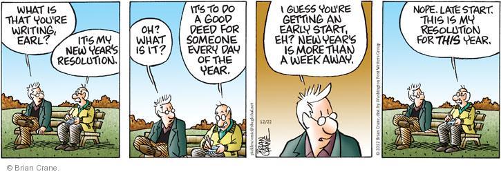 Cartoonist Brian Crane  Pickles 2012-12-22 deed
